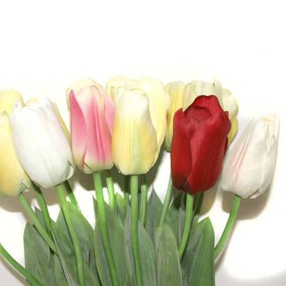 12 long stem tulips pre order artificial flowers silk etsy image 0 mightylinksfo