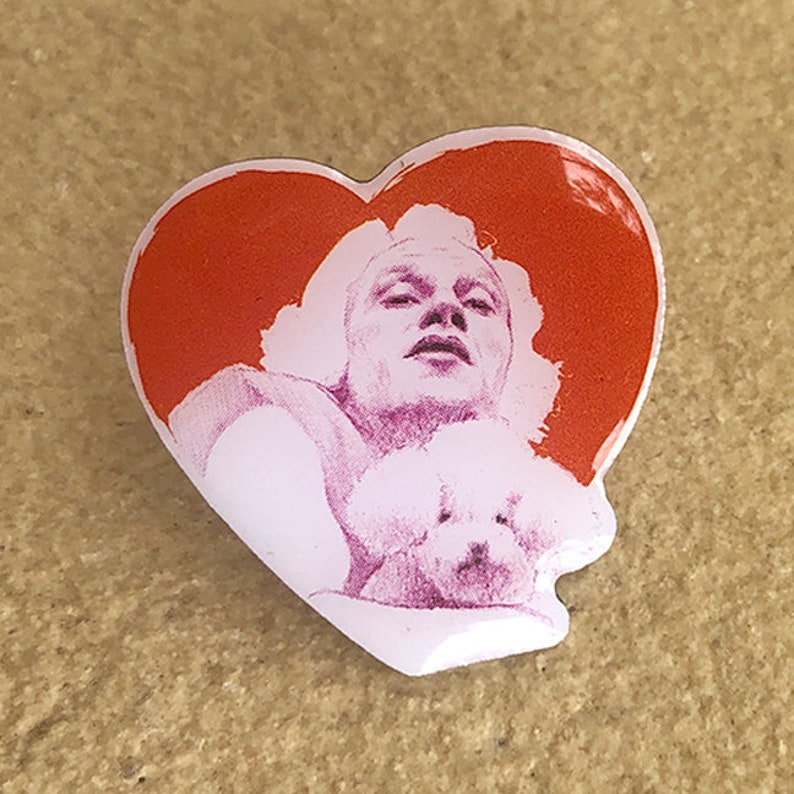 Silence of the Lambs Pin w Epoxy Dome Art Horror Movie Collectibles Buffalo Bill Pin Anti Valentine/'s Day Gifts