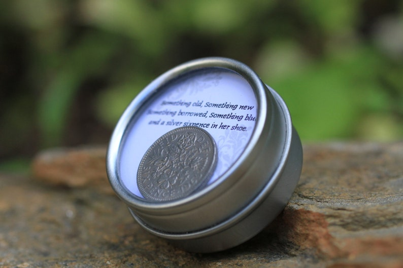 Classic Sixpence Wedding Coin in Keepsake Container image 0