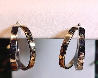 Hoop Earring in 10Kt yellow and white gold. READY TO GO