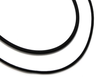 "ECONOMY RUBBER necklace, great product at a very low cost, 2mm or 3mm rubber necklace, locking claps, very strong, elastic, 18"" only. #C109"