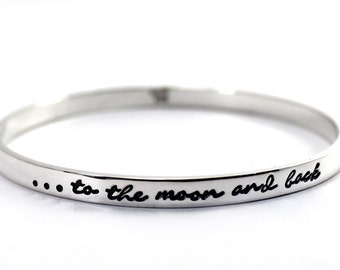 BANGLE 2mm x 5mm with personalized text or texture, thick solid sterling silver bangle, ID bracelet, coordinates bracelet. #BA123
