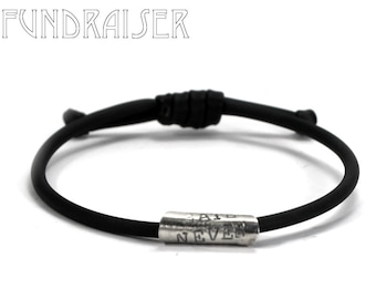 Small customined bracelet, hate never wins, tiny black bracelet, KCF FUNDRAISER All profit will go to rebuild our CrossFit gym #KCF4