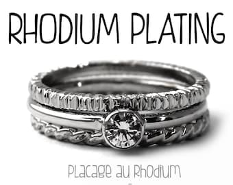 RHODIUM plating, extra rhodium plating on silver