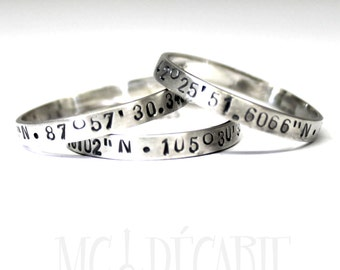 SET OF 3 stacking rings all in sterling silver, all 3mm wide, coordinates stacking rings, personalized stackable ring, kids name. #BE133