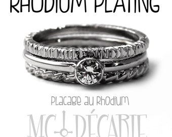 RHODIUM plating, extra rhodium plating on silver