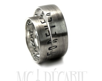 His and Hers: 5mm - 7mm ring band set, 2 engravings included on each ring, two rings included, wedding rings, wedding band, forever. #EJ141