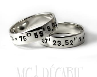 His and Hers: two 5mm ring band set, 2 engravings included on each ring, 2 ring band set, wedding rings, promise ring, personalized. #EJ144