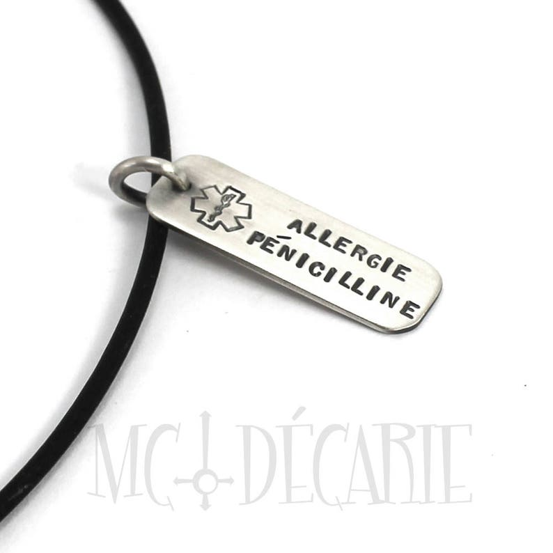 symbol or coordinates Personalized medical tag necklace ID tag with text #H105 solid sterling silver.Chain not included,medical alert