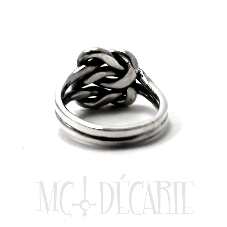 Chunky double knot ring sailor knot ring in sterling silver silver ring #B141 sailor ring friendship ring double knot thick knot ring