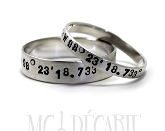 His and Hers: 3mm - 6mm ring band set, 2 engravings included on each ring, 2 ring band set, wedding ring, wedding band, personalized. #EJ176