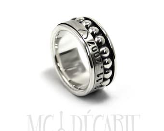 Spinner ring for women, Spinner ring men, meditation ring for men, anxiety ring spinner, 9mm wide #JC123