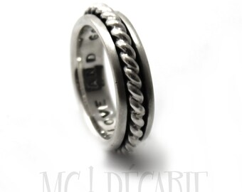 Spinner ring men, Silver spinner ring, Anxiety ring silver, anxiety ring spinner, Spinner ring sterling silver, 6mm wide #JC135
