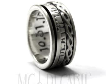 Spinner rings silver