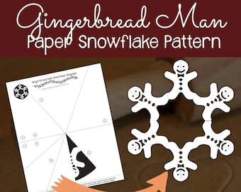snowflake patterns winter craft paper snowflakes cut out etsy