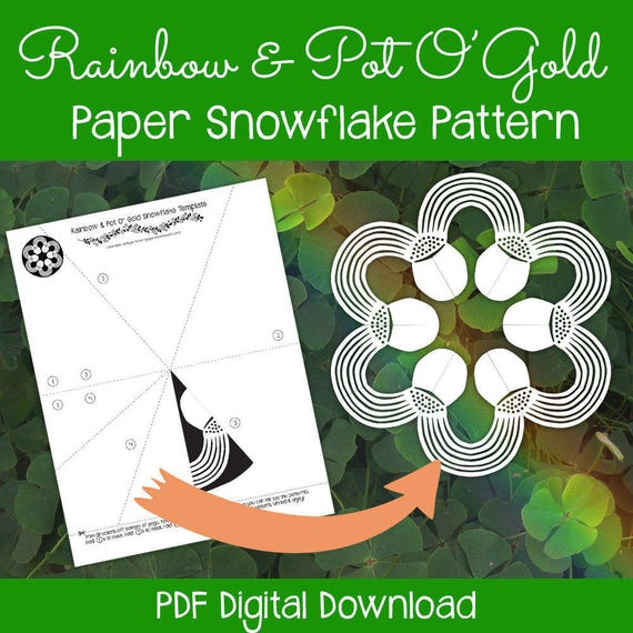 It is a picture of Witty Pot of Gold Printable Template
