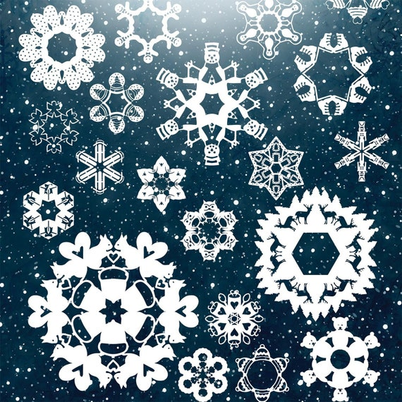 Schneeflocke Muster Winter Handwerk Papier Schneeflocken Etsy