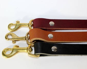 "Six Foot Leather Leash - 3/4""  Leash - Brown Leather  Leash - Leather Lead - Available In 3 Colors and 4 Sizes"