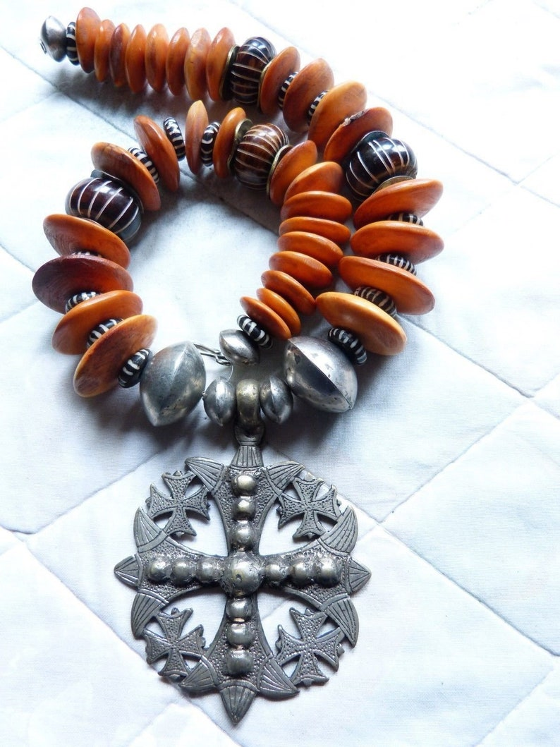 Ethiopian Necklace Lalibela Coptic Cross Necklace African Tribal necklace