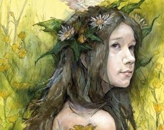 Summer Maiden, A4 print