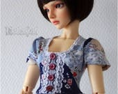 Blue floral dress for fee...