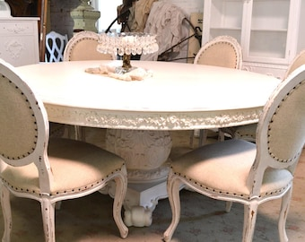 Shabby Chic Dining Table Etsy