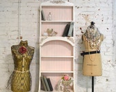 RESERVE LISTING Painted Cottage Chic Shabby Handmade Bookcase Display Cabinet BC13P