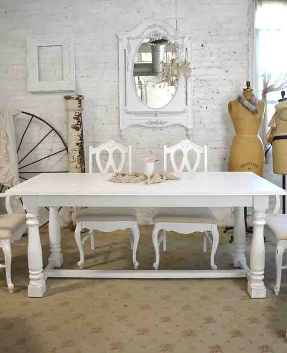 Brilliant Dining Table Painted Cottage Chic Shabby White French Dining Table Tbl202 Uwap Interior Chair Design Uwaporg