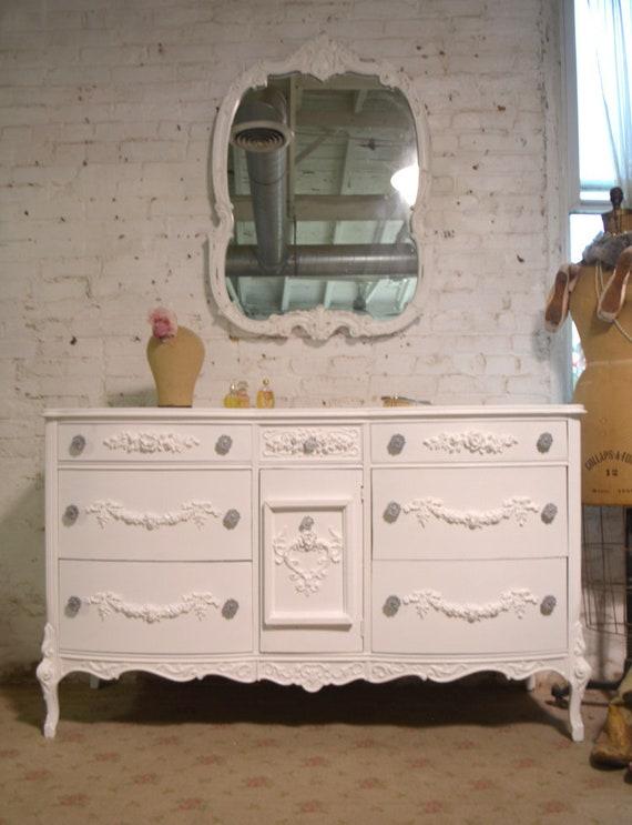 Peint Cottage Chic Minable Francais Provincial Commode Dr1009 Etsy