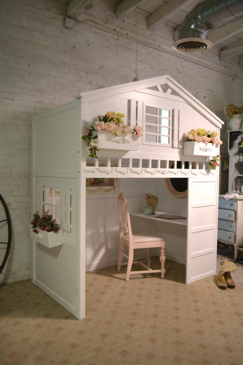 Painted Cottage Shabby Chic Romantic Cottage Loft Bed