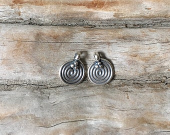 INVENTORY REDUCTION —  Pair of Fine Sterling Silver Bali Swirl Charms