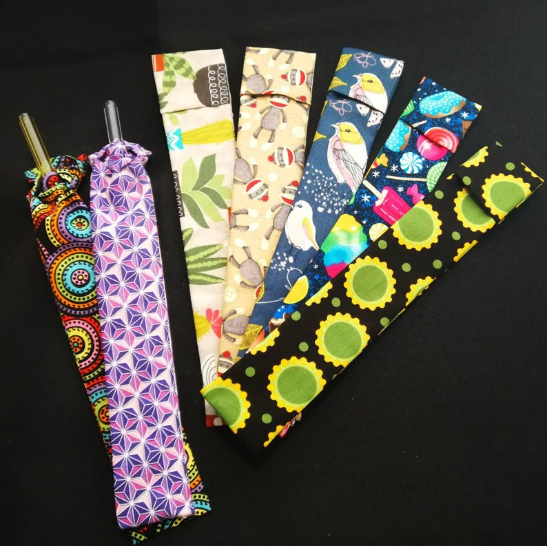 Glass Straw with Travel Sleeve  Reusable  Eco Friendly image 0