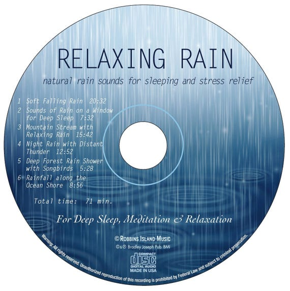 Sounds of Rain (CD): Relaxing Rain (Natural Rain Sounds for Sleeping and  Stress Relief)