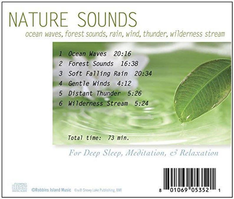 Nature Sounds (CD) Ocean Waves, Forest Sounds, Rain, Wind, Thunder,  Wilderness Stream For Deep Sleep, Meditation, & Relaxation