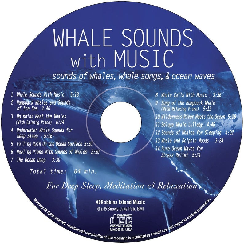 Whale Sounds with Music (CD): Sounds of Whales, Whale Songs, & Ocean Waves