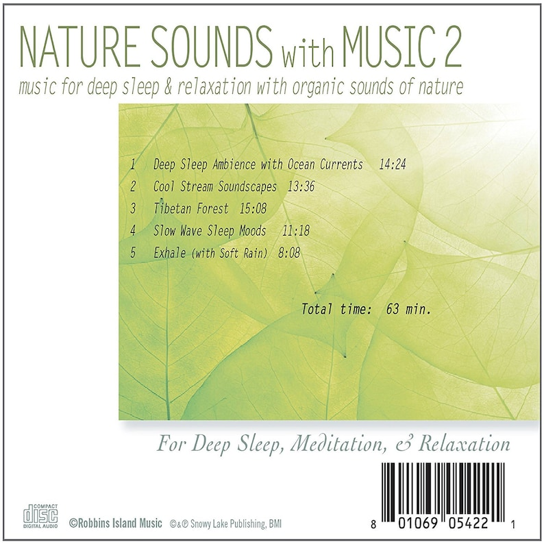 Nature Sounds with Music (CD) Music with Sounds of Nature for Deep Sleep &  Relaxation