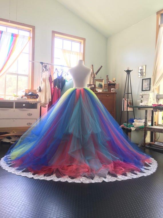 Rainbow wedding dress Rainbow gown tutu dress bridal gown | Etsy