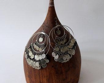 Vintage Dangle Hoop Earrings
