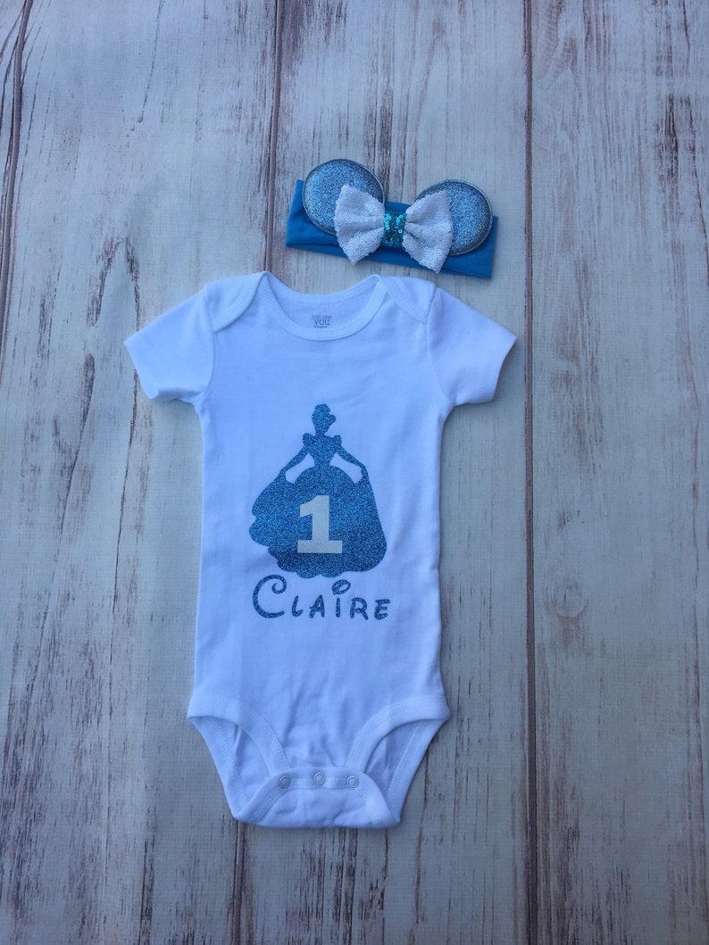 Belle Mouse ears headband with sequin Bow and crown Baby Soft Cotton headband wrap headband Disney princess headband Babies birthday