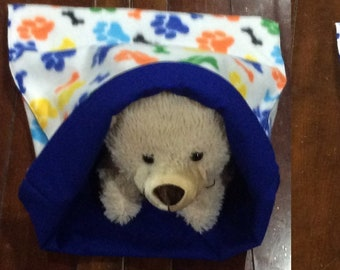"""sleeping bag for dogs cats pets many  fabrics mat snuggle bed bedding blanket puppy 13x15"""""""