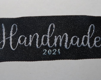 Handmade 2021  woven label tag clothes fabric craft scrapbooking sew on patches labels card gift making labels
