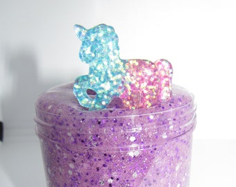 unicorn glitter slime charm included scented