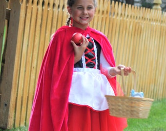 New hooded princess fairy Costume soft cape girl toddler 3-8  years dress up off hot pink super hero