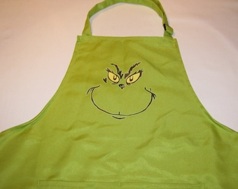 Holiday Christmas women mom dad teen apron one size grinch child matching