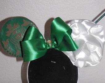Starbucks inspired disney mouse ears headband