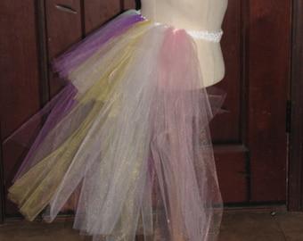 unicorn costume tutu tail high low and headband girl child adult women raindbow