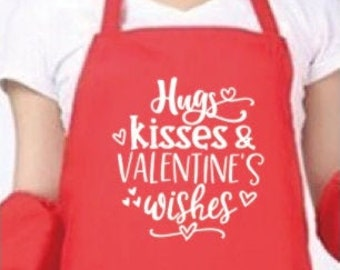 St. Valentines apron  gift chef cook bake adult S-L
