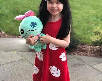 child lilo stitch Halloween costume inspired  dress  2 - 4 -6 - 8  yrs