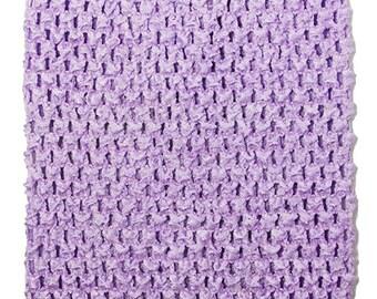 "Girls baby child unlined lined Crochet tutu top tube 1-12 years DIY flower girl wedding dress birthday costume lavender  6"" 7"" 8"" 10"" 12"""