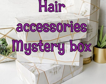 Hair accessories mystery box gift Girl fashion bows headbands squinchies clips flowers Scrunchie Tie Elastic bands baby teens toddler Gift